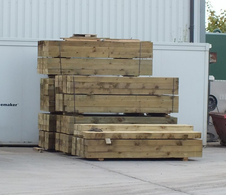Railway Sleepers lowmac recycling centre irvine ayrshire